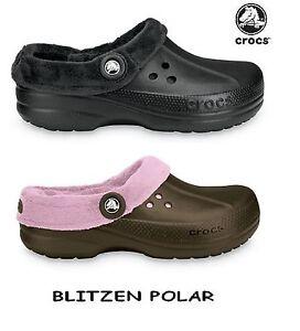 6d5e5af606d8ca Image is loading New-Crocs-Blitzen-Polar-Lined-Kids-Clog-Comfortable-