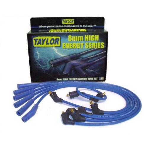 Taylor Spark Plug Wire Set 64690; High Energy 8mm Blue for Nissan 6 Cylinder