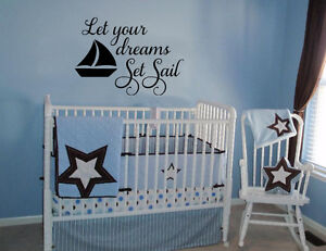 Image Is Loading Let Your Dreams Set Sail Nautical Boat Nursery