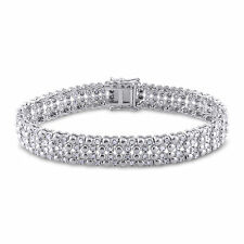 Sterling Silver 2 ct TDW Diamond Tennis Bracelet H-I I2-I3