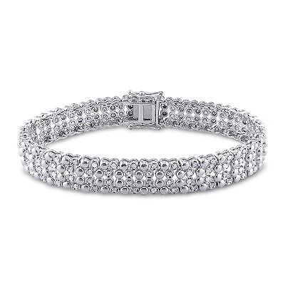 Sterling Silver 2 ct TDW Diamond Tennis Bracelet H-I I2-I3