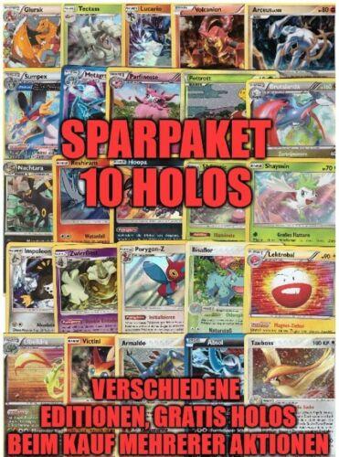 super Geschenk 10 deutsche Pokemon Karten Holo Sammlung