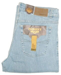 PADDOCKS-Ranger-Hellblau-Stretch-BLEACHED-Sommer-Jeans-Groesse-waehlbar-Fb-4813