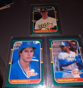 1987-Donruss-The-Rookies-RC-Lot-MARK-McGWIRE-GREG-MADDUX-FRED-McGRIFF-HOF