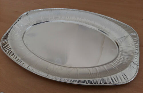 Snack Small Medium Size Embossed Foil Platter Serving Dish Aluminium Silver Tray