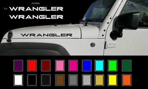 "Jeep WRANGLER Hood Decals Stickers Graphics Rubicon TJ JK CJ YJ 2-23/"""