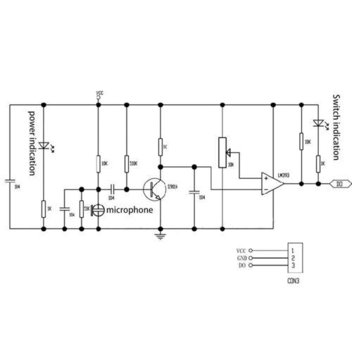 Microphone Sensor High Sensitivity Sound Detecte Voice switch Module B2AD