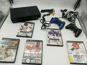 Sony PlayStation 2 PS2 Fat Console Bundle SCPH-30001 & 6 Games and Tested!