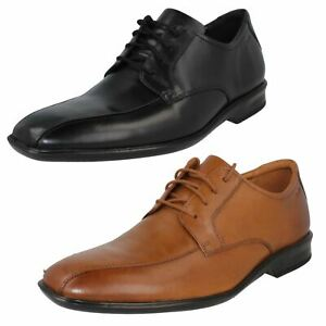 Clarks Mens Francis Air Wide Fit Black Leather Lightweight Smart Lace Up Shoes