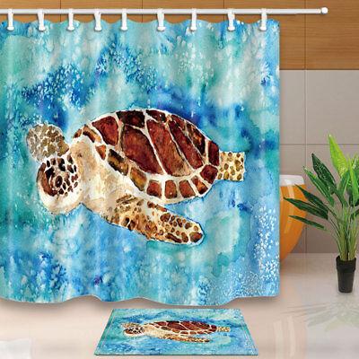 Watercolor pangolin animal Fabric Bathroom Shower Curtain /& Hooks 71Inch