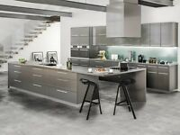 All Wood Rta 10x10 Contemporary Milano Slate Gloss Kitchen Cabinets Modern Gray