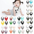 4pcs Set Baby Kids Toddler Feeding Bandana Bibs Saliva Towel Triangle Head Scarf