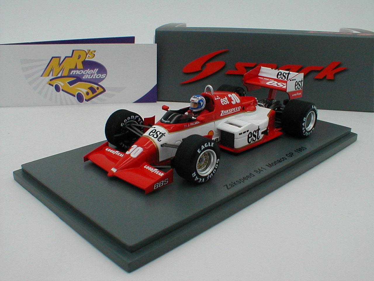 SPARK s1873-ZAKSPEED 841 Monaco GP 1985 No. 30  Jonathan Palmer  1 43 Neuf