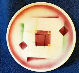 EACH Plates Spritzdekor GERMAN BAUHAUS airbrushed CUBIST Dish ART DECO 20's