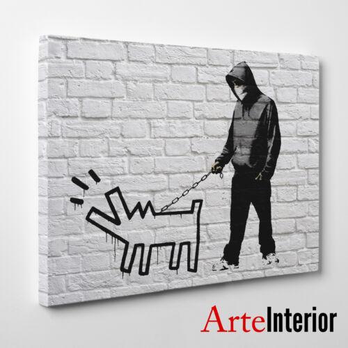 Choose Your Weapon Stampa FINE ART su tela CANVAS Haring Dog BANKSY