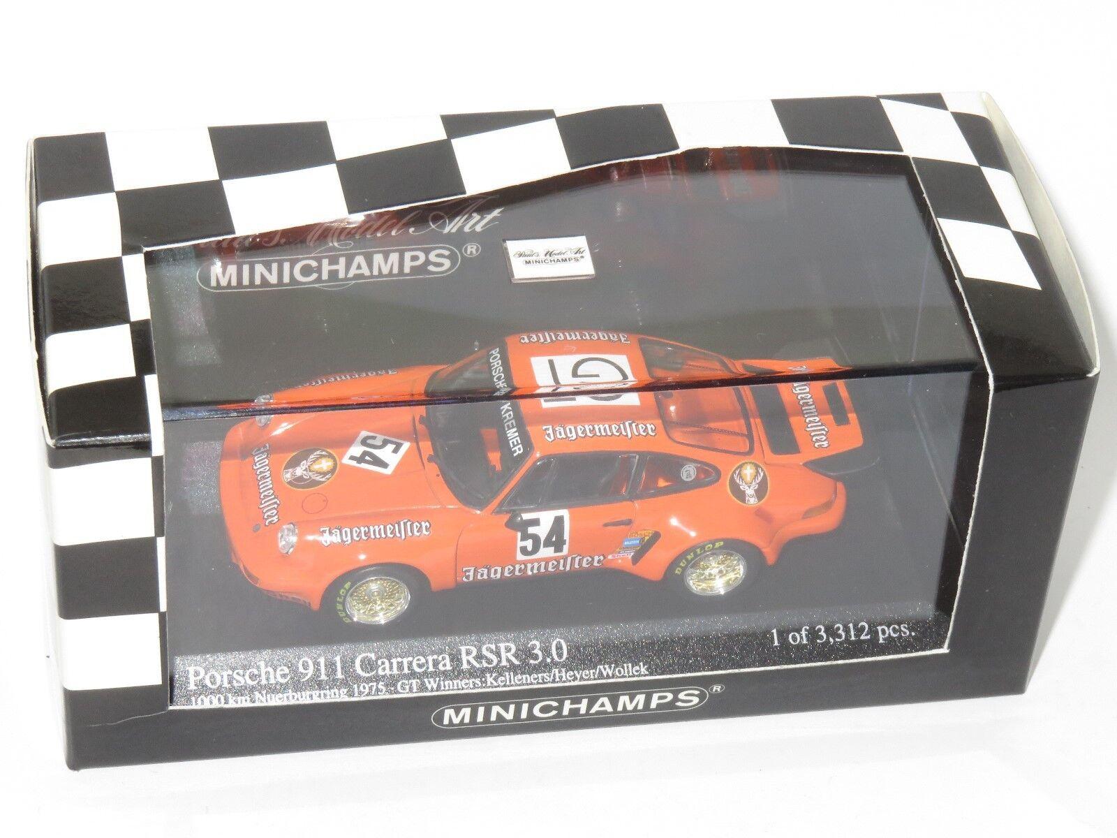 1 43 Porsche 911 voiturerera RSR  Jagermeister  ADAC 1000km Winners 1975  Achetez maintenant