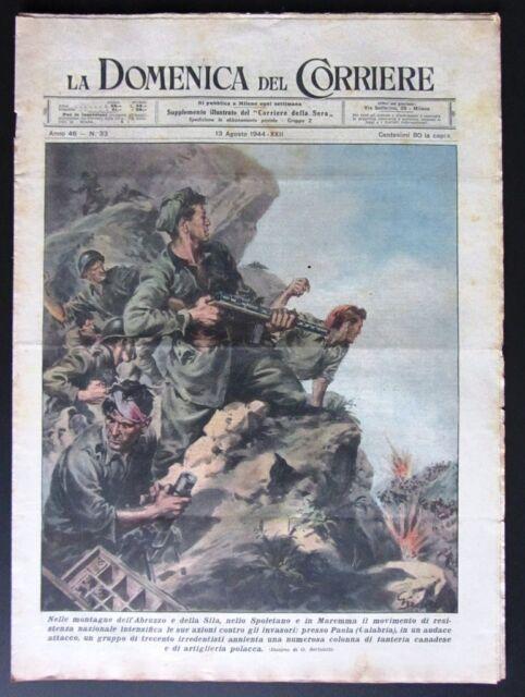 RSI 1944 WW2 PAOLA CALABRIA RESISTENZA IRREDENTISITI aereo colpito