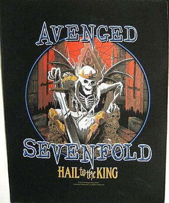 "AVENGED SEVENFOLD RÜCKENAUFNÄHER / BACKPATCH # 8 ""HAIL TO THE KING"""