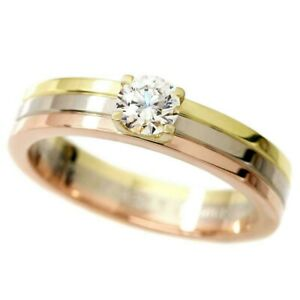 Cartier-Trinity-GIA-certified-Diamond-0-25ct-E-VVS1-Engagement-Ring-18K-size-49