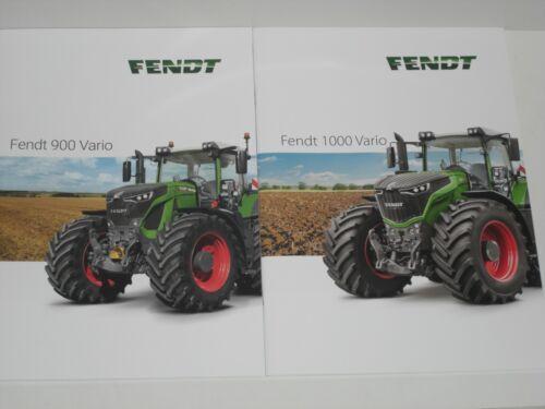 F145 FENDT 900 VARIO 1000 VARIO Traktoren Prospekte von 01//2019 und 01//2018