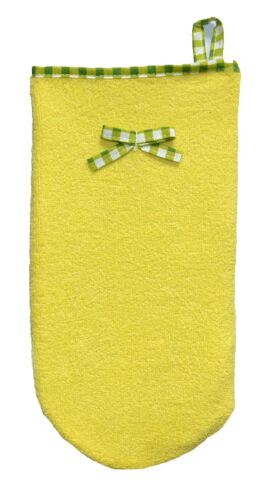TERRY BATH GLOVE baby bath glove delicate soft gentle towel soft cotton