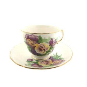 Royal-Vale-England-Bone-China-Pansy-Tea-Cup-Saucer