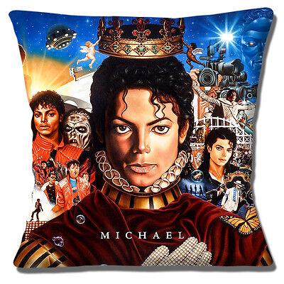 """Michael Jackson 16/""""x16/"""" 40cm Cubierta para Cojín Cubierta De Discos De Vinilo thriller Collage"""