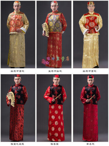 Chinese Traditional Man Qing Clothing Emperor Prince Show Cosplay Robe Costume