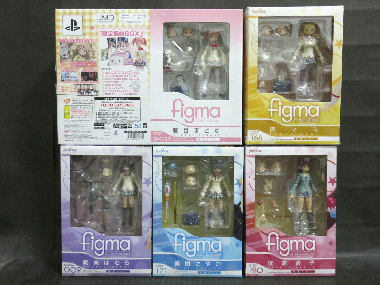 Figma Puella Magi Madoka Magica Uniforme Ver. 5 figuras (Mami Sayaka..) Set