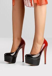 Onlymaker-Women-039-s-Round-Toe-High-Heel-Platform-Sexy-Stiletto-Slip-On-Pumps-Shoes
