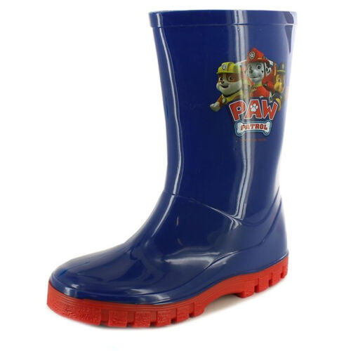 Paw Patrol Wellington Boots Wellies Blue /& Red Boys Rainy Weather Various Sizes