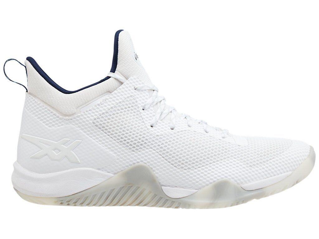 Asics Blaze Nova blancoo Negro Hombres Tenis de Basketball TBF31G-100