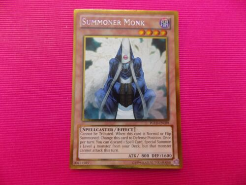 YuGiOh Summoner Monk PGLD-EN089 Gold Rare Card
