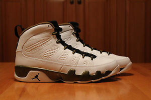 cd35b7fd134f Air Jordan 9 IX Statue Rare DS 12 White Gold Basketball Shoes