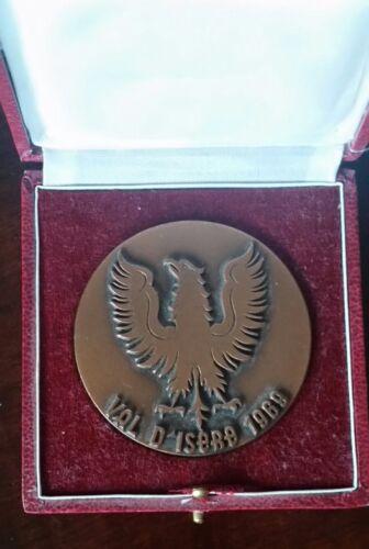Superbe médaille bronze Coupe des Alpes ski alpin Val d'Isère 1969 (60mm)