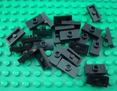 LEGO Lot of 25 Black 1x2 Plates with 1 Stud