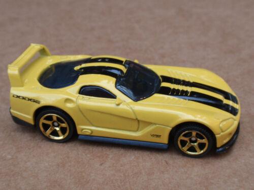 2013 Matchbox DODGE VIPER GTS-R CONCEPT 29//120 MBX Adventure City LOOSE Yellow