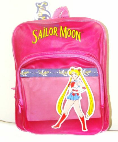 NEW    *SAILOR MOON*   PINK   BACKPACK  TRANSLUCENT VYNIL