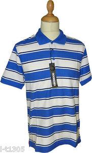Mens-Goodsouls-Striped-Polo-Top-T-shirt-Blue-White-Stripe-Size-S-5XL