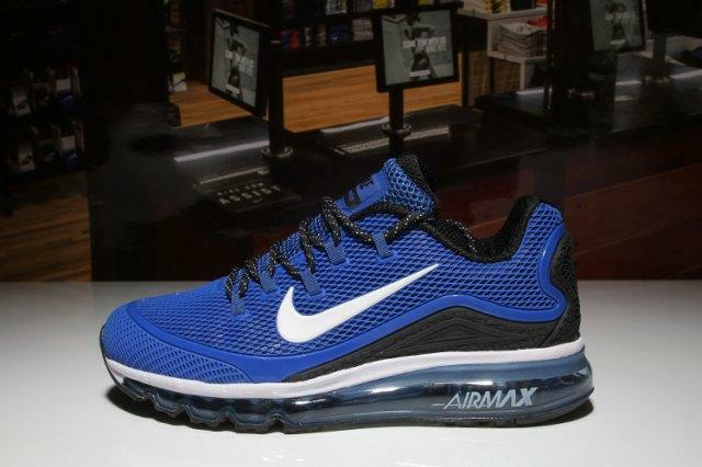 Mens Nike Air Max 2018 Elite KPU Royal Blue White Black Running Shoes NIKE ND000