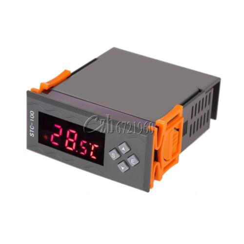STC-100 12V LCD Temperature ℃/&℉ Controller Thermostast With Alarm Sensor 2 Relay