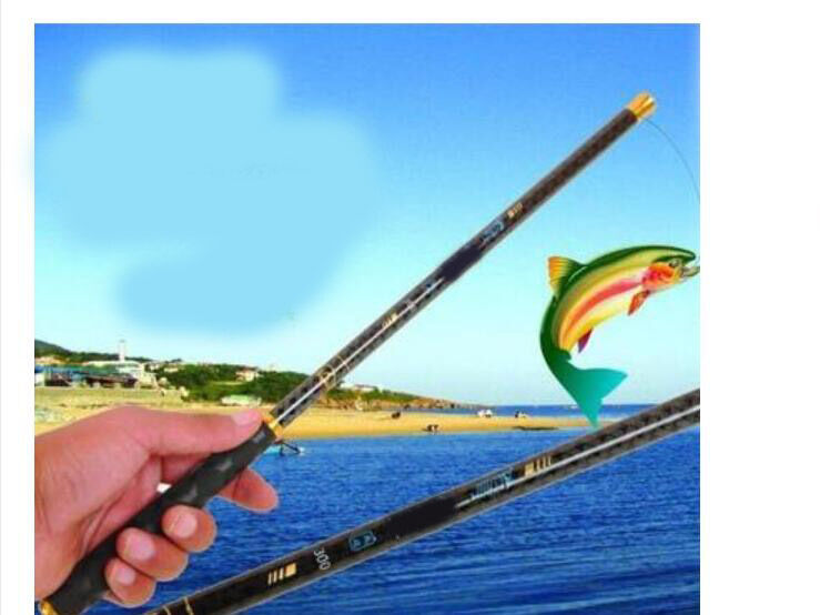 4.5M Portable  Super Strong Carbon Telescopic Spinning Pole Sea Fishing Rods    shop clearance