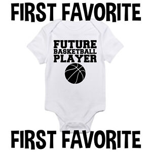 2d1773045022 Image is loading Future-Basketball-Player-Baby-Onesie-Shirt-Shower-Gift-