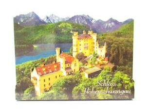 Schloss-Hohenschwangau-Bayern-2D-Holz-Magnet-10-cm-Souvenir-Germany
