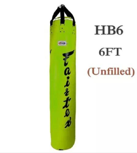 Details about  /6ft Fairtex Pole Heavy Bag Genuine Muay Thai Kick Boxing K1 MMA HB6 UnFilled