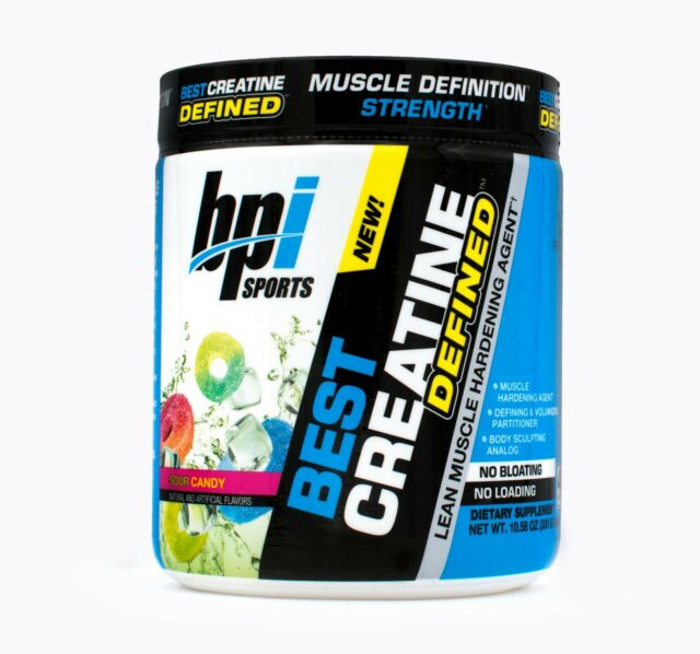 BPI Sports Best Creatine Defined Lean Muscle Hardening Agent Sour Candy  10.58 Ounce