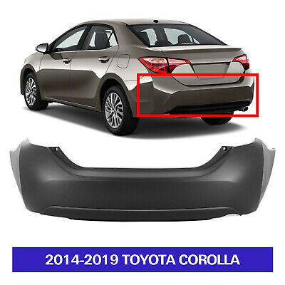 Rear Bumper Cover for TOYOTA COROLLA 2014-2018 Upper Primed Lower Textured