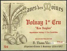 Etiquette de Vin - Bourgogne - Volnay 1°Cru -  New - Never Stuck - Réf.n°47