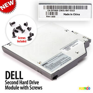 Genuine-DELL-2nd-IDE-HDD-Hard-Drive-Caddy-Media-Bay-Latitude-D800-D810-D820-D830