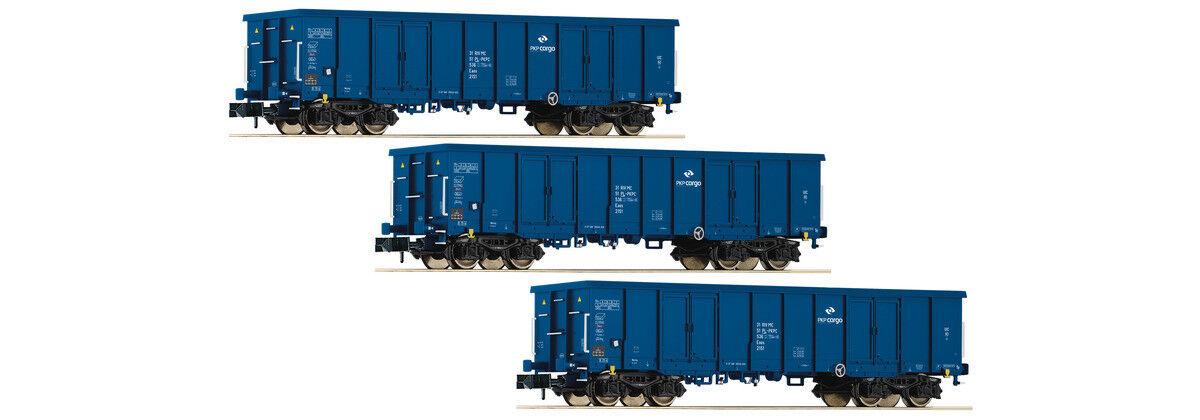Fleischmann 828342, 3tlg. Set aperta carri merci, PKP Cargo, Nuovo E Ovp, N